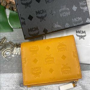 MCM mini Klara two fold wallet mango monogram